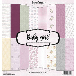 "Set Papeles Scrap Baby Girl 12x12"" Papirdesign"