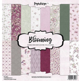 "Set Papeles Scrap Blooming 12x12"" Papirdesign"