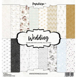 "Set Papeles Scrap Wedding 12x12"" Papirdesign"