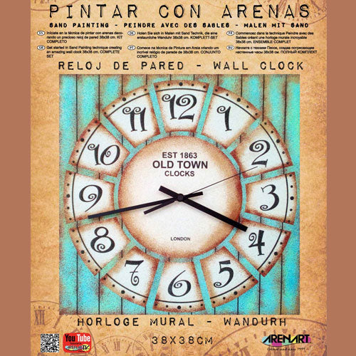 Set Pinta Reloj Pared con arenas Old Town ARENART