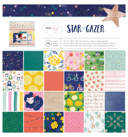 "Set Papeles Scrap Star Gazer 12x12"" Dear Lizzy"