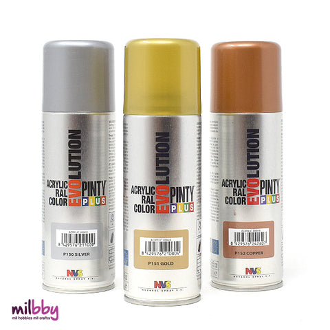 Pintura en Spray Evolution Purpurina 270cc Pintyplus