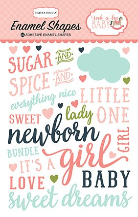Stickers Enamel Shapes Baby Girl Carta Bella