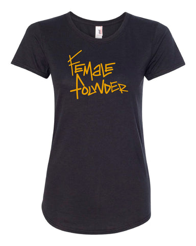 Female Fuel Graphic Tee from #SHL - BLACK