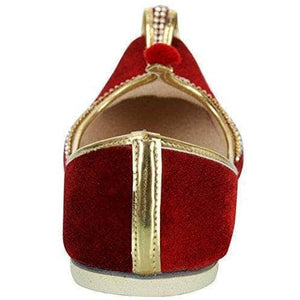 krafto mens red velvet rhinestone ruby mojaris