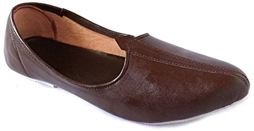 Krafto Men's Plain Brown Jalsa Jutis