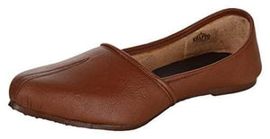 Krafto Men's Brown Split Jalsa Leather Juttis