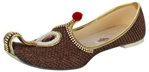 krafto mens brown jute rhinestone ruby mojaris