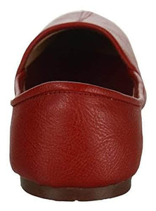 Krafto Men's Red Split Jalsa Leather Juttis