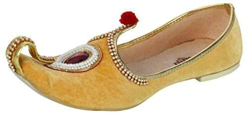 krafto mens yellow velvet rhinestone ruby mojaris