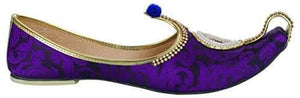 krafto mens purple fabric rhinestone ruby mojaris