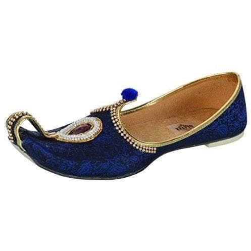 krafto mens blue fabric rhinestone ruby mojaris