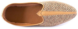 Krafto Men's Camel Brown Mesh Jalsa Jutis