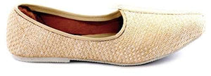 Krafto Men's Cream Mesh Jalsa Jutis