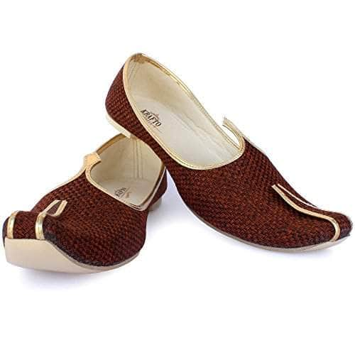 krafto mens tawny brown jute jutti