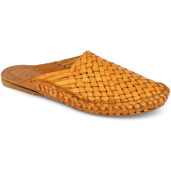 Yellow Leather Men's Kolhapuri Slippers