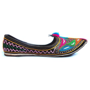 Colorful Embroidary Handmade Women's Jodhpuri Leather Jutti