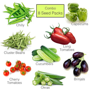 Vegetables Seeds Combo - 8 Veggies