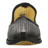 Black Handcrafted Leather Mojari for Man