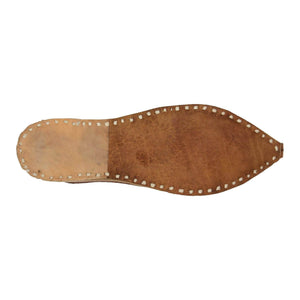 Plain Brown Handcrafted Juti for Man