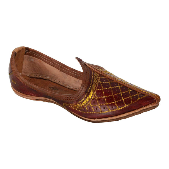 Maroon Leather Mojri for Men