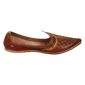 Maroon Handcrafted Leather Boys Mojdi