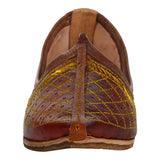 Maroon Handcrafted Leather Mojrai for Man