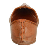 Peach Brown Handmade Leather Jutti for Man