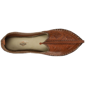 Brown Handcrafted Mojdi for Man