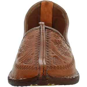 Brown Handcrafted Leather Mojrai for Man