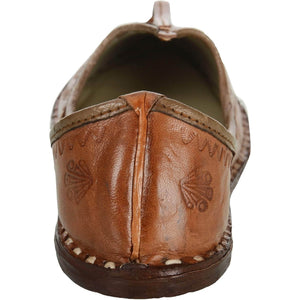 Brown Handmade Leather Jutti for Man