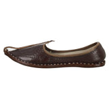 Brown Handmade Jutti for Man