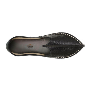 Black Handcrafted Mojdi for Man
