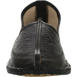 Black Handcrafted Leather Mojrai for Man