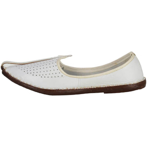 White Handmade Jutti for Man
