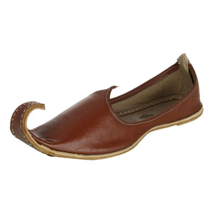 Brown Leather Mojri for Men