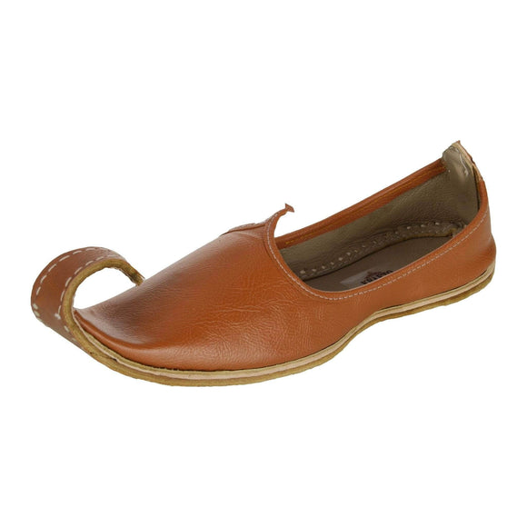 Sandy Brown Leather Mojri for Men
