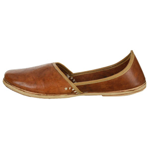 Dark Brown Handmade Jutti for Man