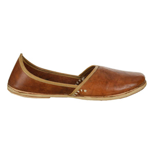 Dark Brown Handcrafted Leather Boys Mojdi