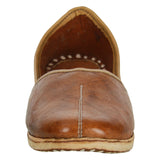 Dark Brown Handcrafted Leather Mojrai for Man