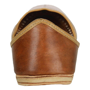 Dark Brown Handmade Leather Jutti for Man