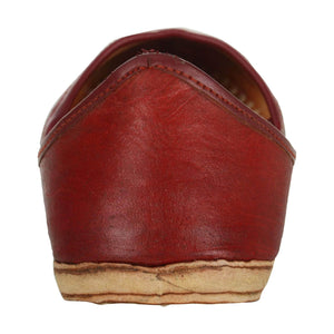 Maroon Handmade Leather Jutti for Man
