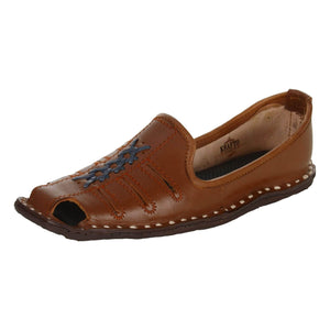 Brick Orange Leather Mojri for Men