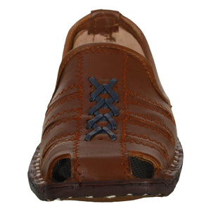 Brick Orange Handcrafted Leather Mojrai for Man