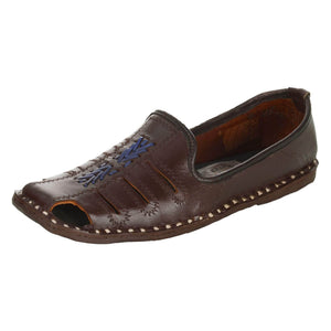 Dark Brown Leather Mojri for Men