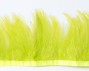 Apple Green Saddles Feathers by the Yard