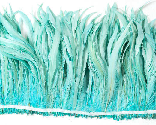 Aqua Cocktail Feathers 8-10 inches by the Pound