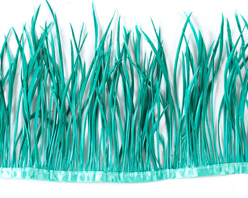 Aquamarine Biot Feathers by the Yard