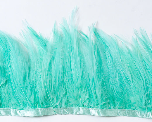 Aqua Saddles Feathers by the Yard