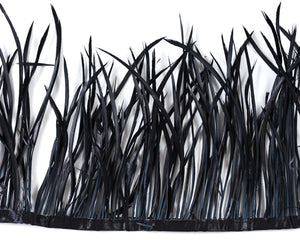 Black Biot Feathers by the Yard